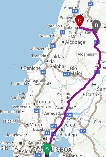 mapa lisboa fatima Mosteiro da Batalha   A gratidão do Rei pela vitória em Aljubarrota mapa lisboa fatima